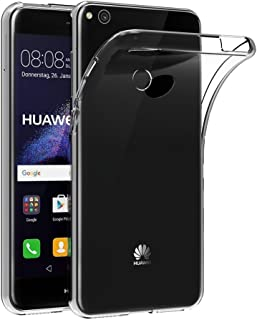 REY Funda Carcasa Gel Transparente para Huawei P8 Lite 2017 / P9 Lite 2017, Ultra Fina 0,33mm, Silicona TPU de Alta Resistencia y Flexibilidad