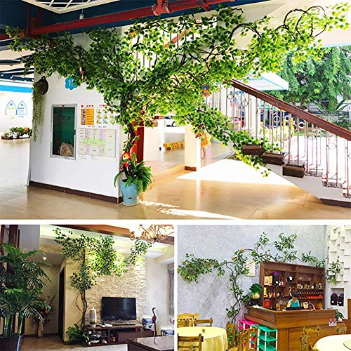 LYWIR Große künstliche gefälschte Pflanze Bäume Kirschblüten hängen Rebe Seide Girlande Hochzeit Party Office Indoor Outdoor Decor