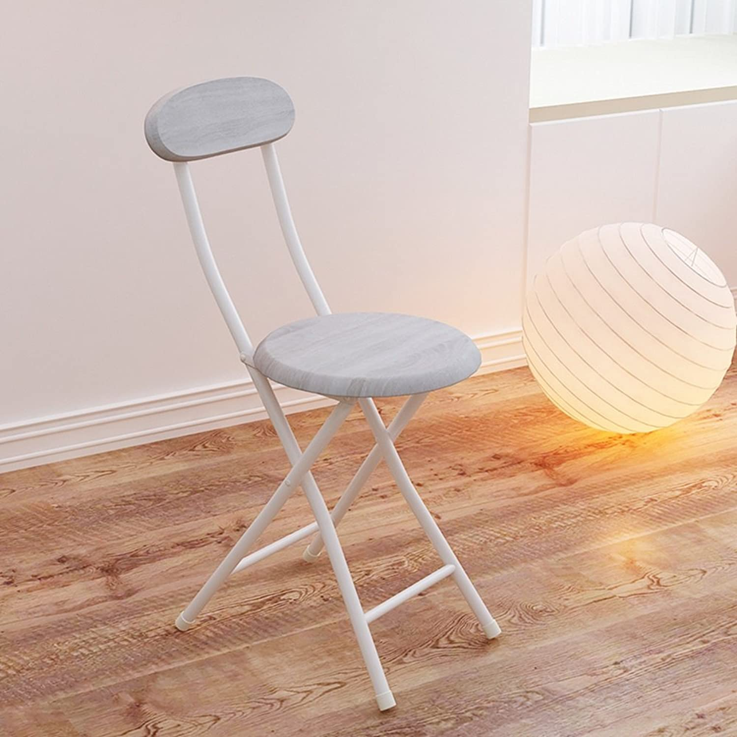 LHA Barstools Backrest Folding Stool Leisure Chair Dormitory Small Chair Home Stool Training Chair Folding Chair Chair Bar Furniture (color   B)