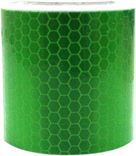 Maiqiken 1/cm x 5/m riflettore nastro verde fluorescente ad alta intensit/à di sicurezza marcatura nastro per bicicletta Cars Trucks attenzione tape