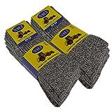 sockenkauf24 6 Paar PREMIUM Arbeitssocken NAFT Herrensocken Baumwolle ohne Gummidruck auch in Übergröße 47-50 (43-46, 6 Paar | Grau-Melange)