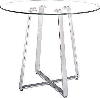 """Zuo Modern Counter Table Chrome Lemon Drop, Size: 40"""" l x 40"""" w x 36.5"""" h"""