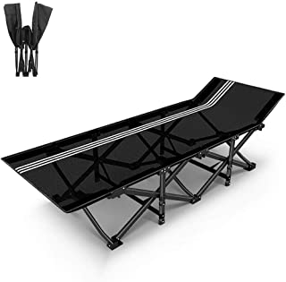 Garden Recliner/Portable Beach Chair/Multi-Function Folding Bed/Camping Bed, with Headrest, Textilene Fabric, Office/Garden/Outdoor, Support 200Kg,A