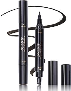 Winged Eyeliner Stamp, Docolor Waterproof Dual Ended Liquid Eye Liner Pen, Long Lasting Eyeliner Pen Black