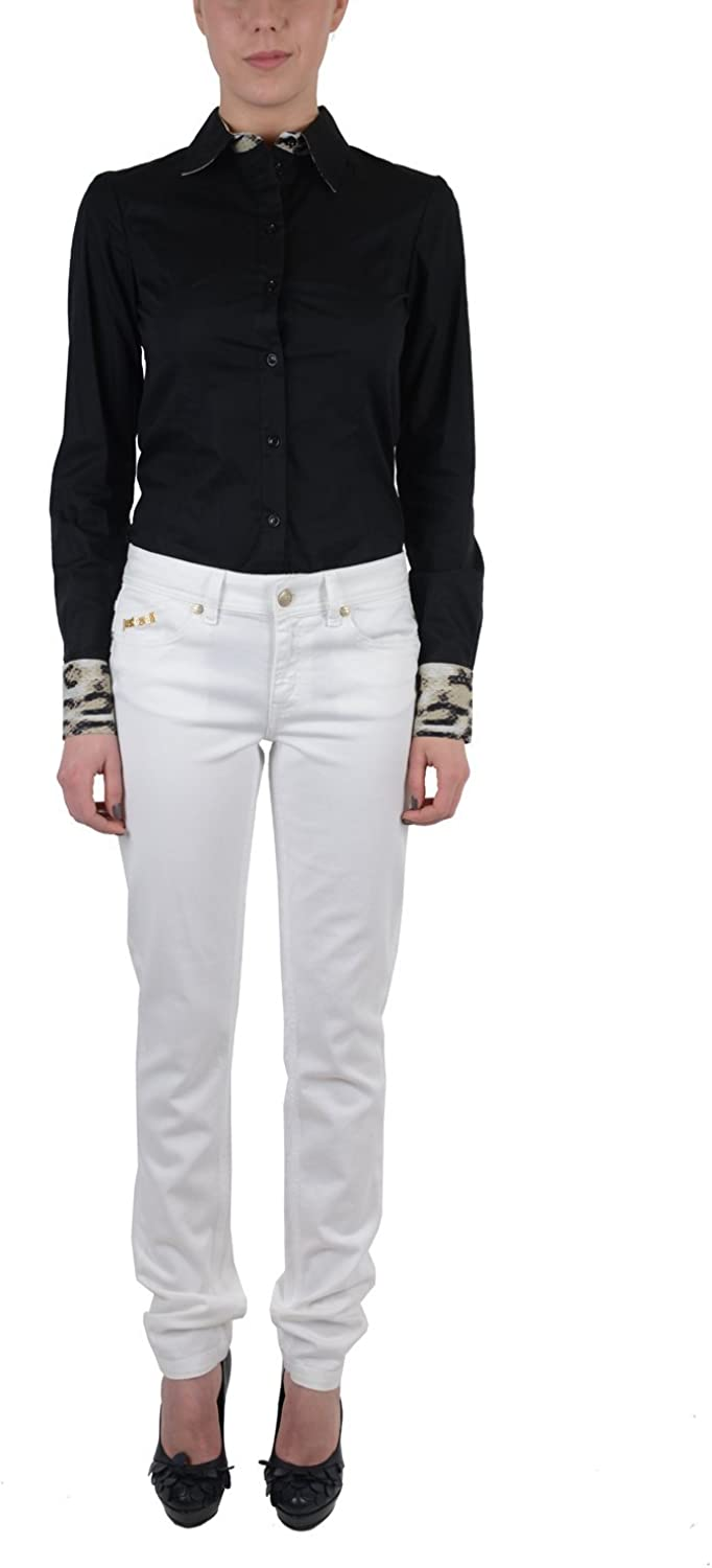 Just Cavalli Women's White Embroidered Skinny Jeans US 28 EU 42