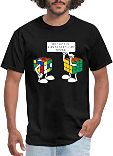 Spreadshirt Rubik's Cube Why Do You Always Complicate Things Men's T-Shirt
