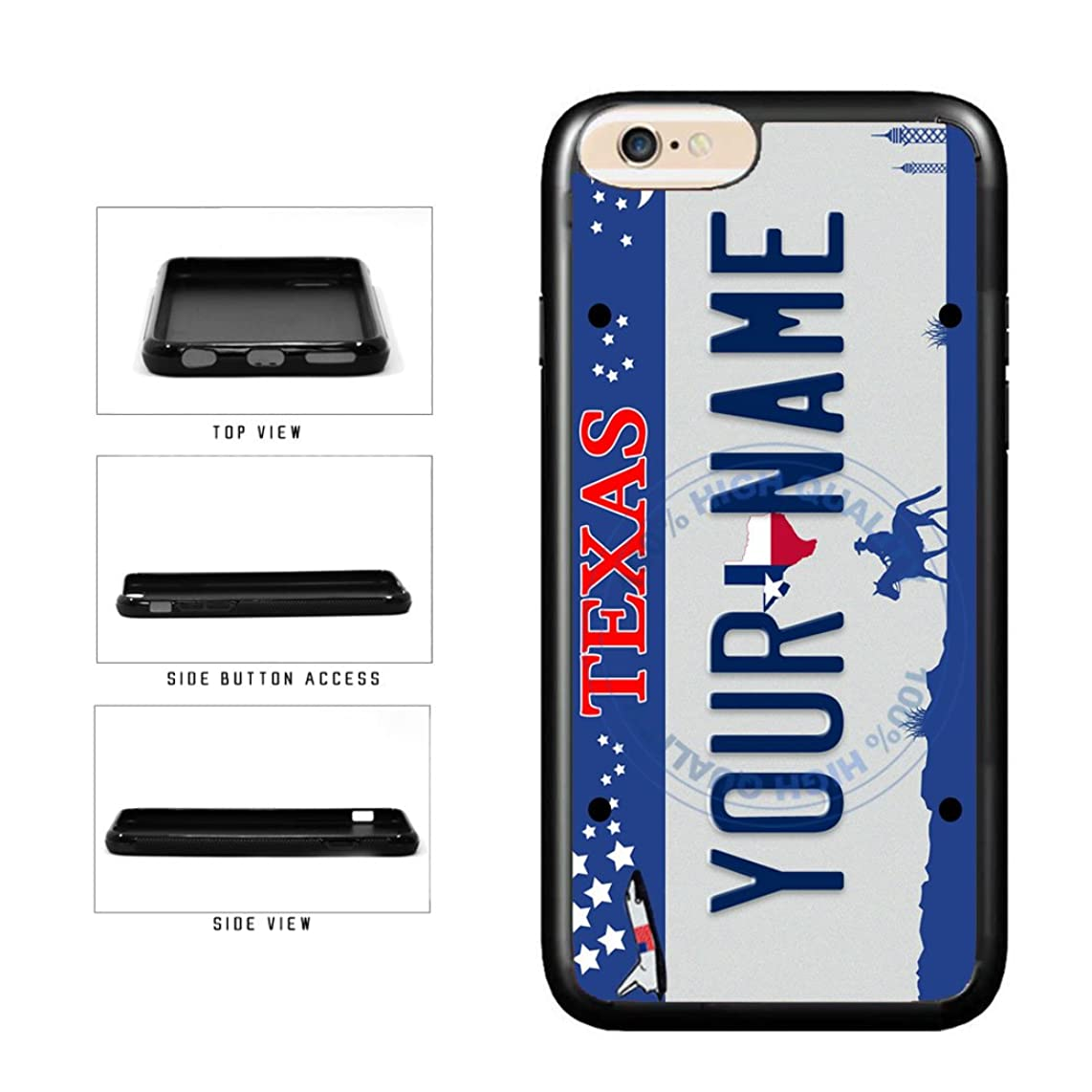 BleuReign(TM) Personalized Custom Name Texas State License Plate TPU RUBBER SILICONE Phone Case Back Cover For Apple iPhone 6 Plus and iPhone 6s Plus (5.5 Inches Screen)