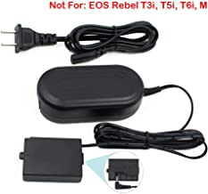 ACK-E10, FlyHi ACK-E10 AC Power Adapter DR-E10 DC Coupler Charger Kit (Replacement for LP-E10) for Canon EOS Rebel T3, T5, T6, T7, T100 Kiss X50, Kiss X70, EOS 1100D, 1200D, 1300D, 2000D, 4000D.