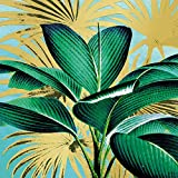 Home Collection Servietten (2er Set / 40Stück) 3-lagig 33x33cm Tropical Leaves Blätter Palme