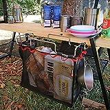Picnic Camping Foldable Storage Mesh Basket Metal Bracket Cookware Holder Organizer Rack PingGongHuaKeJiYouXianGongSi