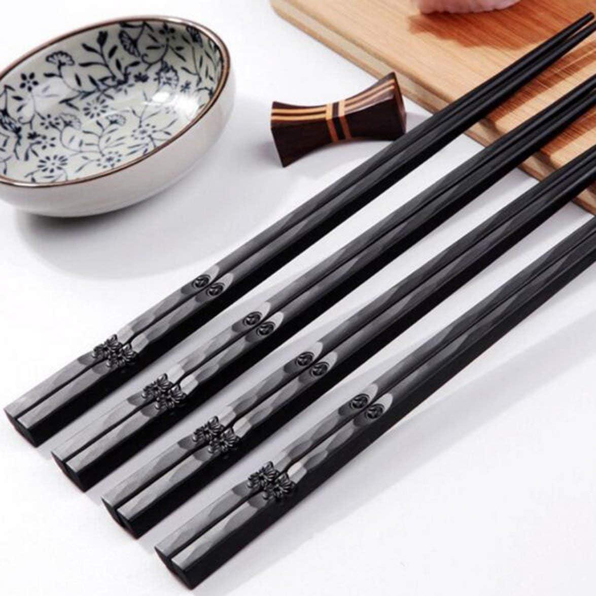 Sylvialuca 1 para Japanische St/äbchen Legierung rutschfeste Holz Farbe Sushi St/äbchen Set Chinesisches Geschenk Familie Freunde Kollegen Geschenke