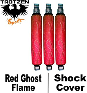 Trotzen Sports Shock Cover Compatible With Yamaha raptor 50 80 Red Ghost Flame Shock Cover #pht12457 TTS4467