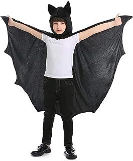 أزياء بابات سوبرهيرو تلبيس هالوين أسود كايب للأطفال للجنسين تأثيري مقاس كبير من 6 إلى 9 سنوات
