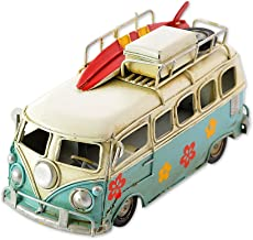 SCSpecial Retro Metal Camper Van 6.3 Inches Classic VW T1 Beach Bus Toy Modelo - Azul