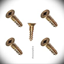 Square Drive Flat Head Wood Screw Metric Hardware Fastener Kit Silicon Bronze 651#6X5/8