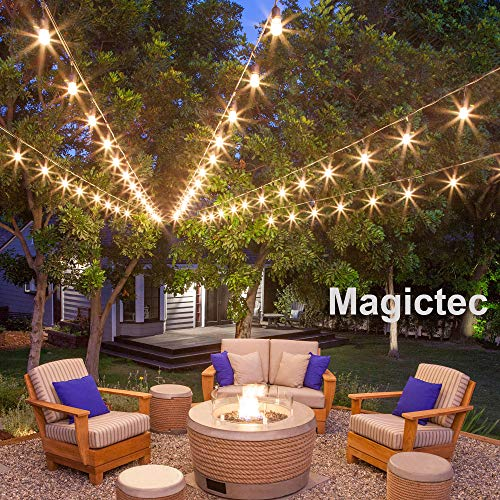Solar String Lights, Magictec LED S14 Solar String Light Outdoor Waterproof Lighting Decoration Energy Saving Hanging Decor for Garden, Balcony, Porch, Backyard or Camp Tent 27 ft