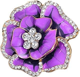 Strass Cristal Écharpe Clip Broches Bouquet de Fleurs Mariage Bijoux Broche PINS