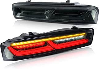 YUANZHENG Full LED Sequential Tail Lights for [Chevrolet Chevy Camaro Coupe 6th gen 2016 2017 2018] with DRL Bars YAB-CMR-0278H, Smoke