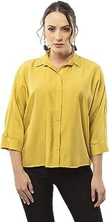 Women's Three Quarter Sleeve Button Down Top Shirt