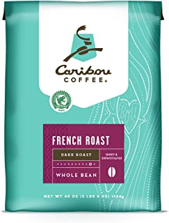 Caribou Coffee Bags Coffee French Roast Whole Bean, 40 Ounce