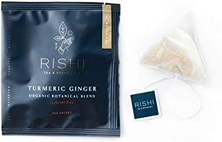 Rishi Tea Turmeric Ginger Herbal Tea | Immune Support, USDA Certified Organic, Caffeine-Free, Ayurvedic, Energy-Boosting, ...