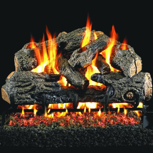 Buy Peterson Real Fyre 18-Inch Charred Northern Oak Gas Log Set With Vented Natural Gas ANSI Certifi...