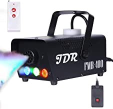 JDR Fog Machine with Controllable lights Smoke Machine Disinfection LED (Red,Green,Blue)..