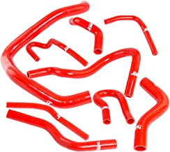 Fit 1992-2000 Honda Civic EG EK (D15 D16 SOHC Engine Only) High Temp 3 Ply Silicone Radiator/Heater Hose Kit Red