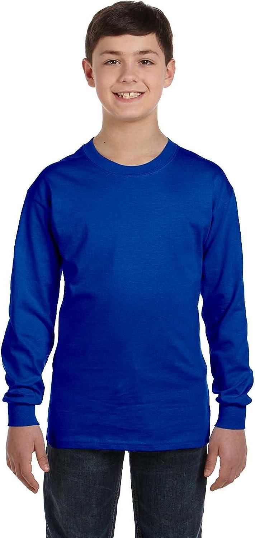 Product of Brand Gildan Youth 53 oz Long-Sleeve T-Shirt - Royal - L - (Instant Savings of 5% & More)