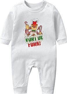 Swedish Chef Muppet Christmas Vurt De Furk Footed Pajamas 100% Cotton Long Sleeve Onesie