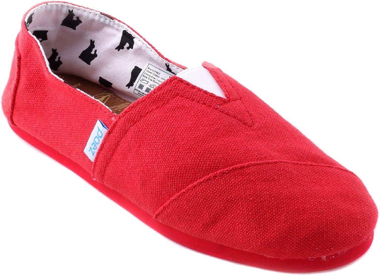 PAEZ Men's Alpargatas Canvas Alpargatas Slip-on Casual Cloth shoes Flat Loafer Combi