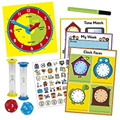Galt Toys, Tell the Time Set, Learn To Tell The Time Clock, Ages 5 Years Plus #1