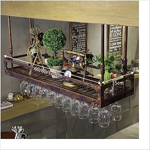 JXXDQ Soporte para copas de vino, para colgar, vaso, botellero, color marrón (tamaño: 60 x 35 cm)