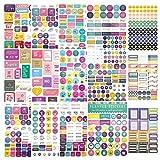 Planner Stickers Para Adultos, Bonitas Pegatinas De Plan De Objetivos De Vida Para El Año, Planes Trimestrales, Mensuales y Semanales, 15 Hojas, 815 Piezas