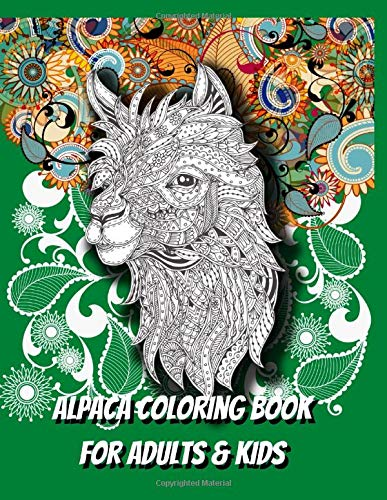 Alpaca: Coloring Book For Adults & Kids: Gifts For Girls, Men & Women