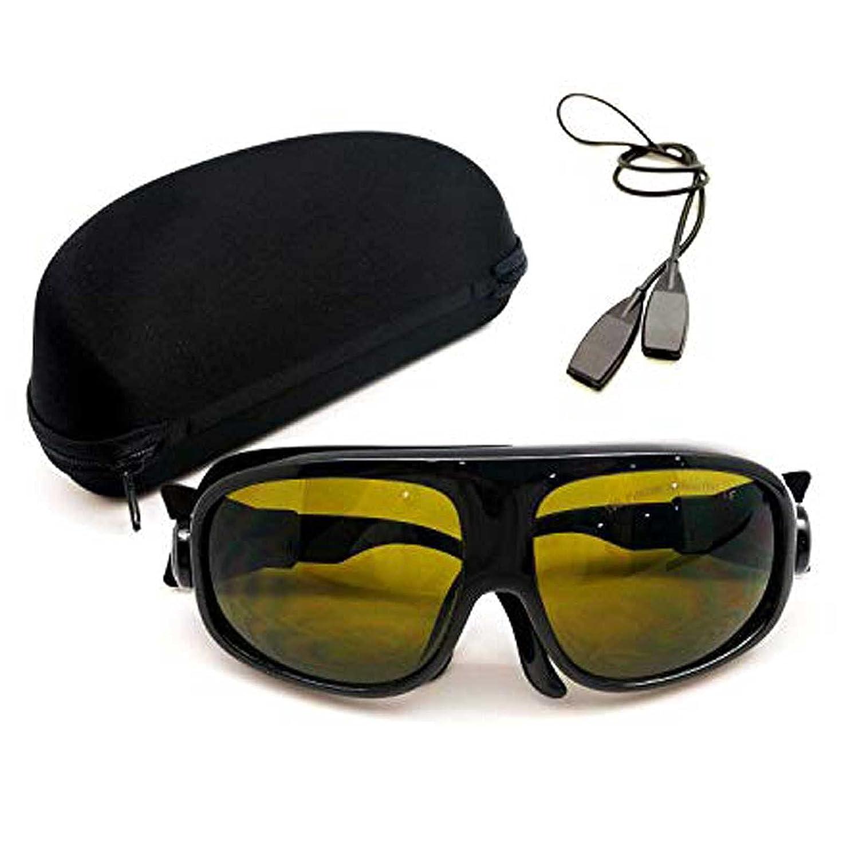 MCWlaser Gafas protectoras de seguridad láser 190-450 y 800-2000nm Típico para 355nm 405nm 445nm 450nm 808nm 980nm 1064nm 1085nm 1320nm 1342nm 1470nm 1550nm Tipo de absorción EP-5 Estilo 11