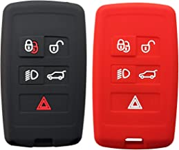 Coolbestda 2Pcs Silicone Key Fob Remote Protector Keyless Case Entry Skin Jacket for Land Rover Range Rover Sport Evoque Velar Discovery 5