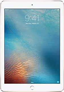 apple iPad Pro with Facetime Tablet - 9.7 Inch, 128GB, WiFi, Rose Gold - Certified Pre Owned