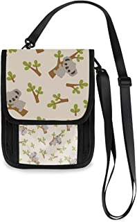 Roomy Pockets Series Travel Small Crossbody Bag Cute Koala Oxford Cloth Cell Phone Purse Wallet For Women