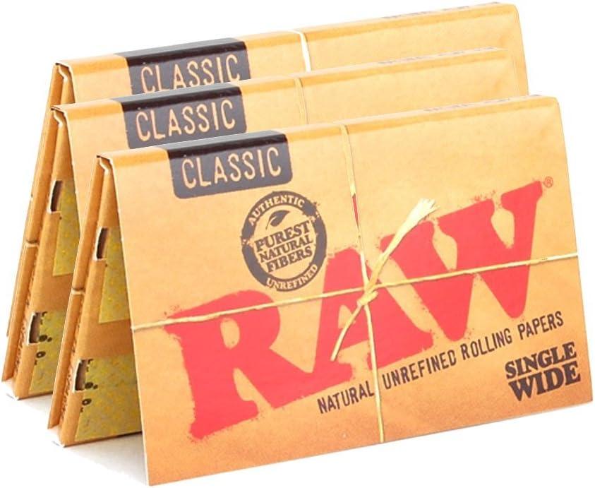 Lote de 32 hojas ultrafinas papel tubo de metal RAW 19067 Black King Size Slim Connoisseur Plus