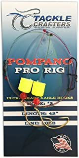 TACKLE CRAFTERS Saltwater Gear Surf Fishing 2 Hook Pompano Pro Rig 12 Pack Made In The USA