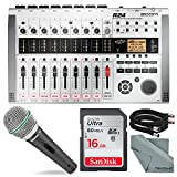 Zoom R24 Multi-Track Recorder, Interface, Controller, and Sampler with Samson Supercardioid...