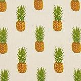Fabulous Fabrics Dekostoff Halbpanama Ananas – Natur —