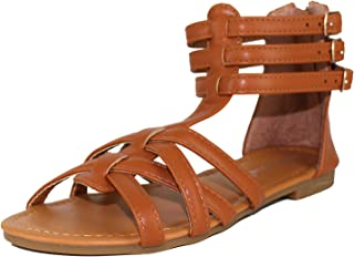 Girls Kids Buckle Zip Gladiator Sandal(Toddler/Little Kid/Big Kid)