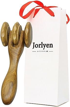 Jorlyenツボ押し棒 天然木製コロコロ 持ちやすい ローラーマッサージャー指圧棒 リンパ 首 腰 足 バックと肩のマッサージ 疲労回復 血行促進 家族友人上司への プレゼント