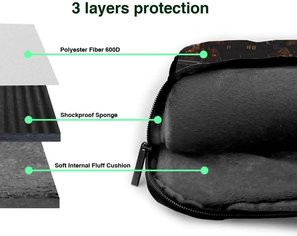 Tennis Ball Print Shockproof Laptop Case Cover Briefcase Size 13 15.6 Inch Laptop Shoulder Bags 14