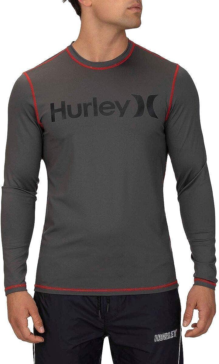 Hurley Womens One /& Only Long Sleeve SPF Sun Shirt Rashguard