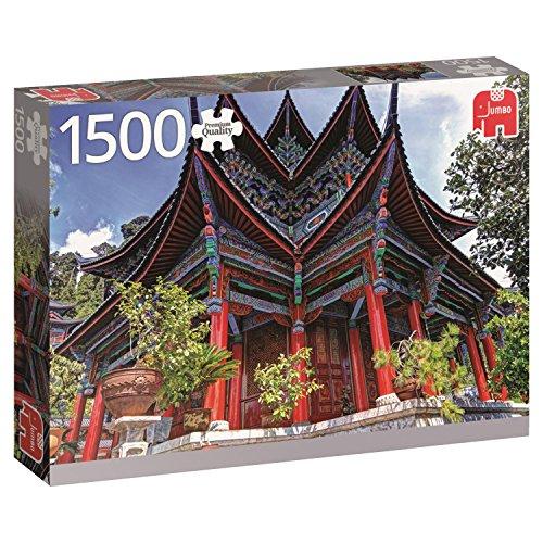 Jumbo puzzel, 1500 delen Chinese tempel