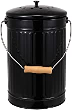 ayacatz 2-in-1 Indoor Kitchen Compost Bin, Great for Food Scraps, 1 Gallon, Removable Clean Plastic Bucket, Handles, Beige - Includes Charcoal Filter