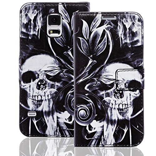 Handyhülle kompatibel mit Sony Xperia L Hülle [Skull and Bones Muster] Case Xperia L Handytasche